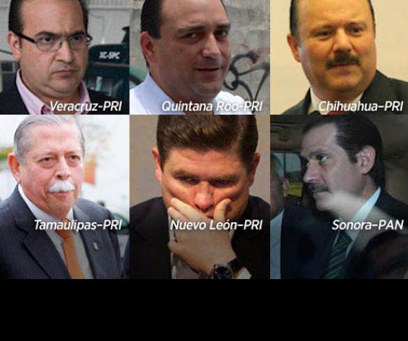 SUMAN OCHO EX-GOBERNADORES DEL PRI PRESOS POR LADRONES
